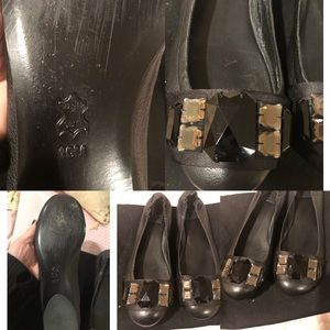 Tory Birch leather ballet flat with stones